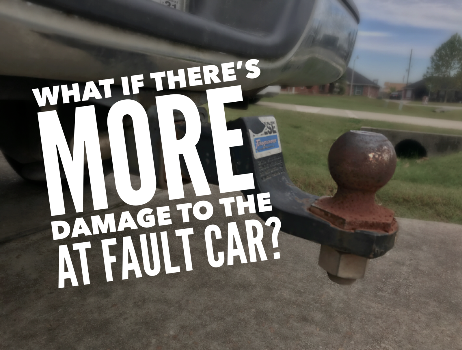 What if there's more damage to the at fault car in an accident?