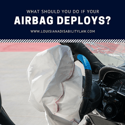 What should you do if your airbag deploys in a crash?