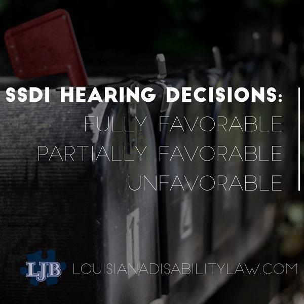 SSDI Notice of Decision: Favorable/Unfavorable