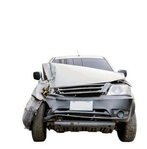 car showing damage caused by side impact crash