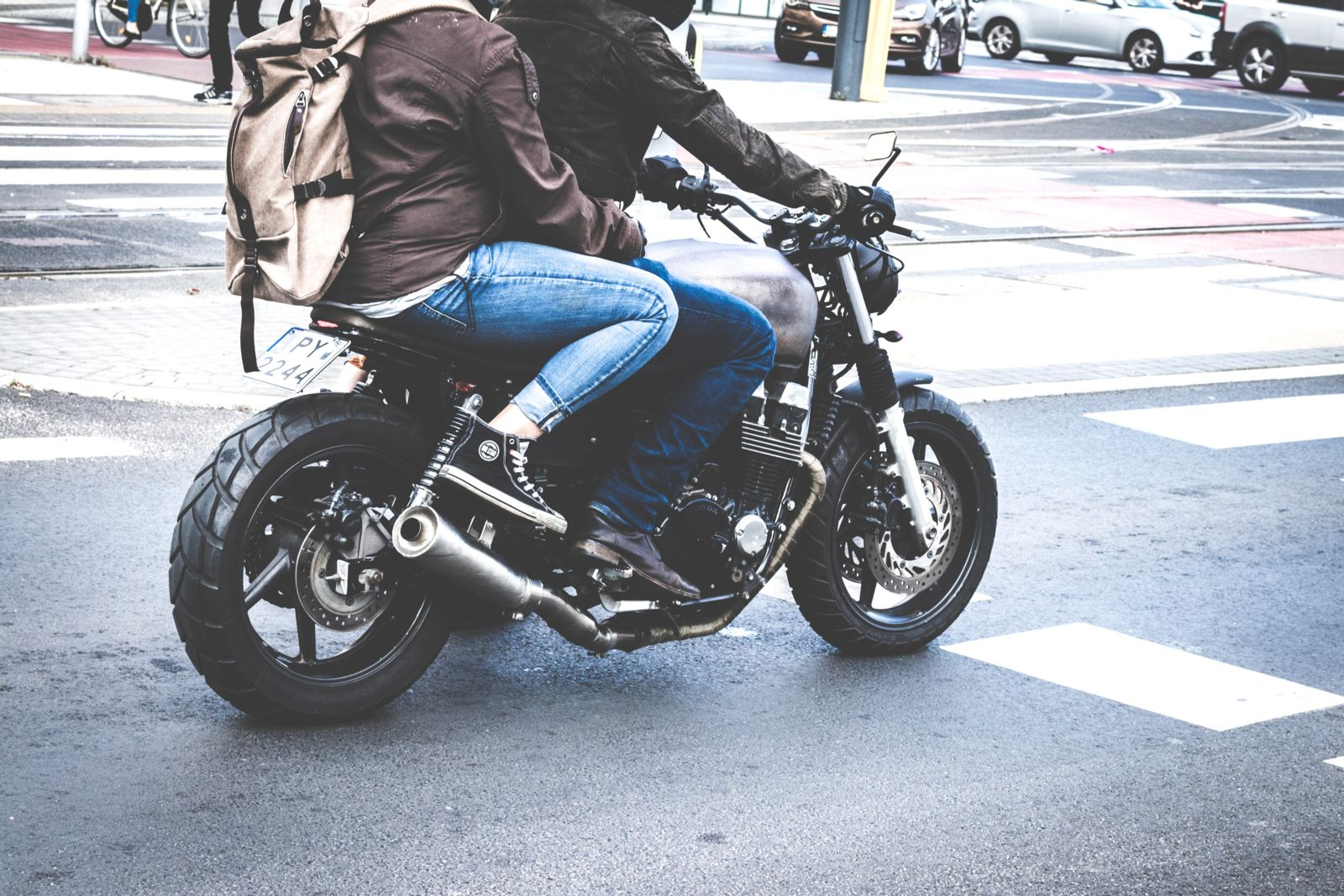 Wearing Helmet While Driving a Motorcycle