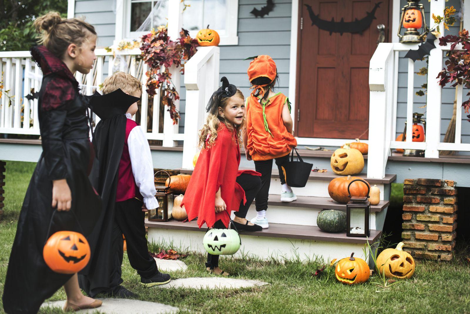 Children celebrating Halloween in Dallas Fort Worth