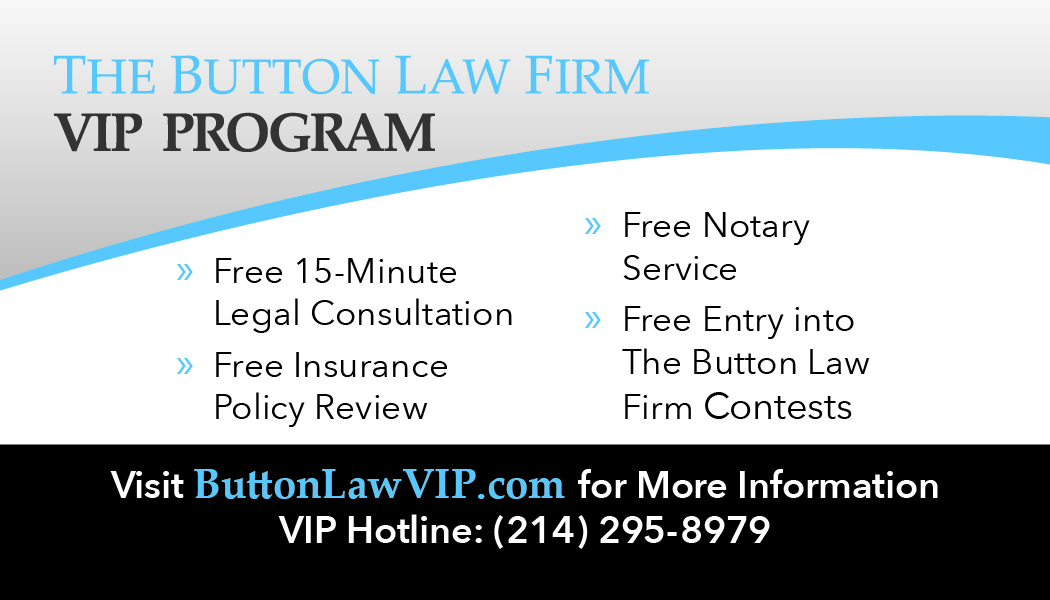 Back of a VIP Program Member card for The Button Law Firm