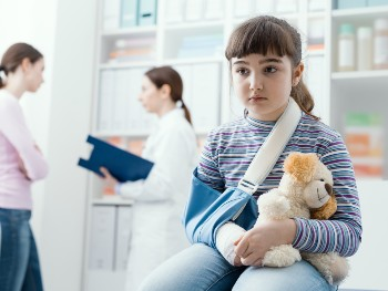 Broken bones can be caused by daycare negligence.