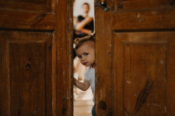 Swinging doors can cause serious injuries for children.