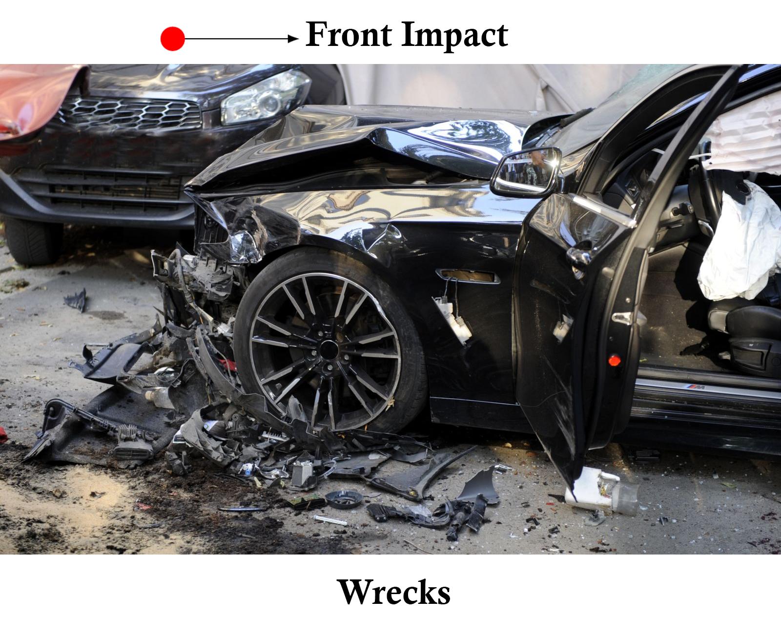 Front Impact Wrecks Dallas Texas