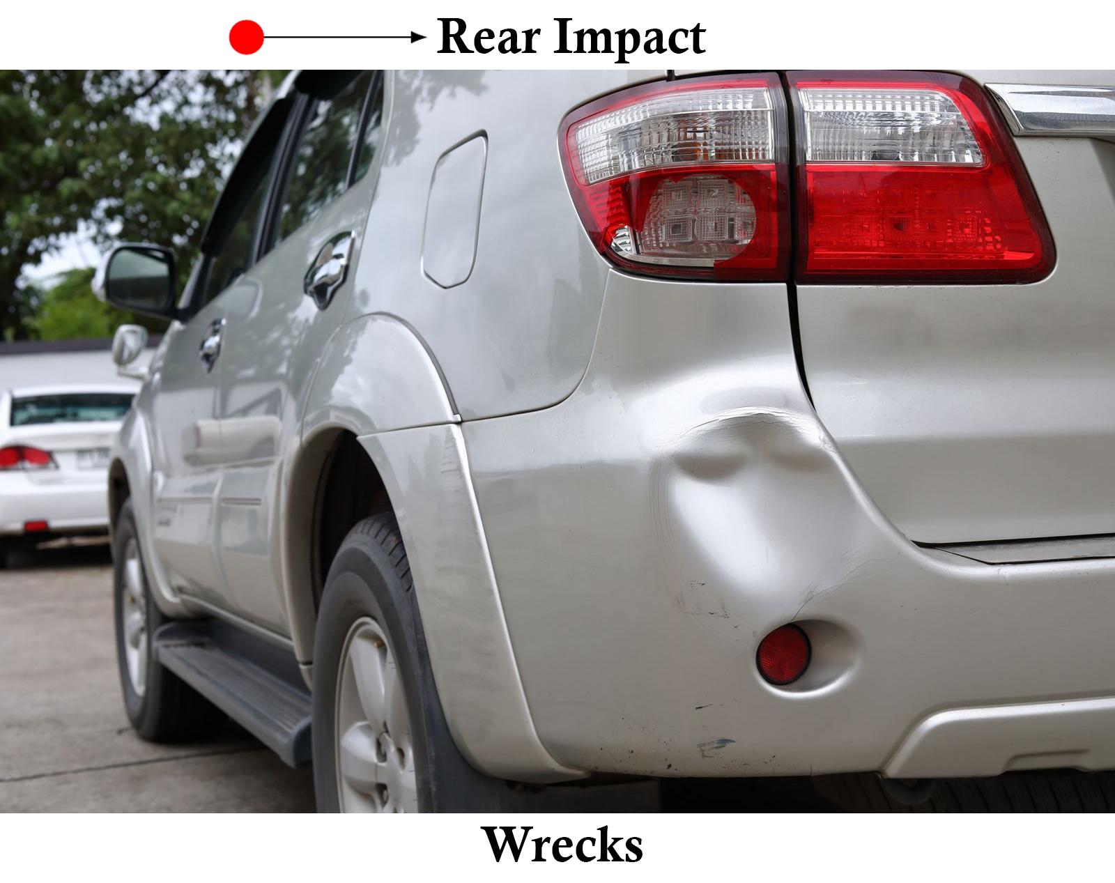 rear impact car wreck dallas tx