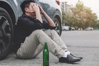 drunk driver after a wreck
