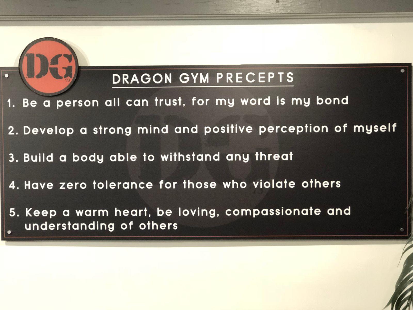 Dragon Gym Martial Arts and Fitness Precepts