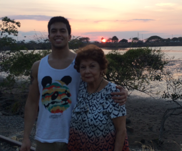 Pablo with his Grandmother in Costa Rica