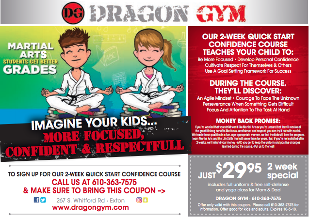 Exton Martial Arts for Children Back to School Special