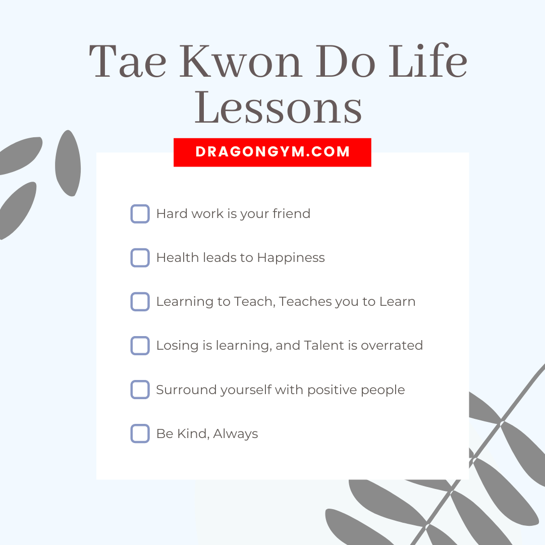 Taekwondo Life Lessons from the Kids' Martial Arts Instructors at the Dragon Gyms in Exton, Malvern, and Berwyn Pa.