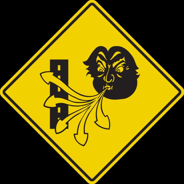 Transports Quebec via Wikimedia Commons -- https://commons.wikimedia.org/wiki/File:Quebec_Wind_Sign.svg