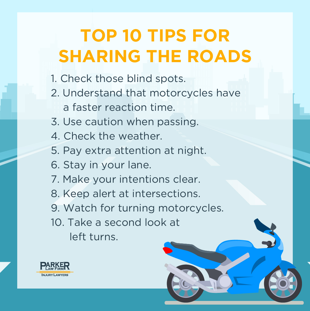 10 Tips for Sharing the Road with Motorcyclists
