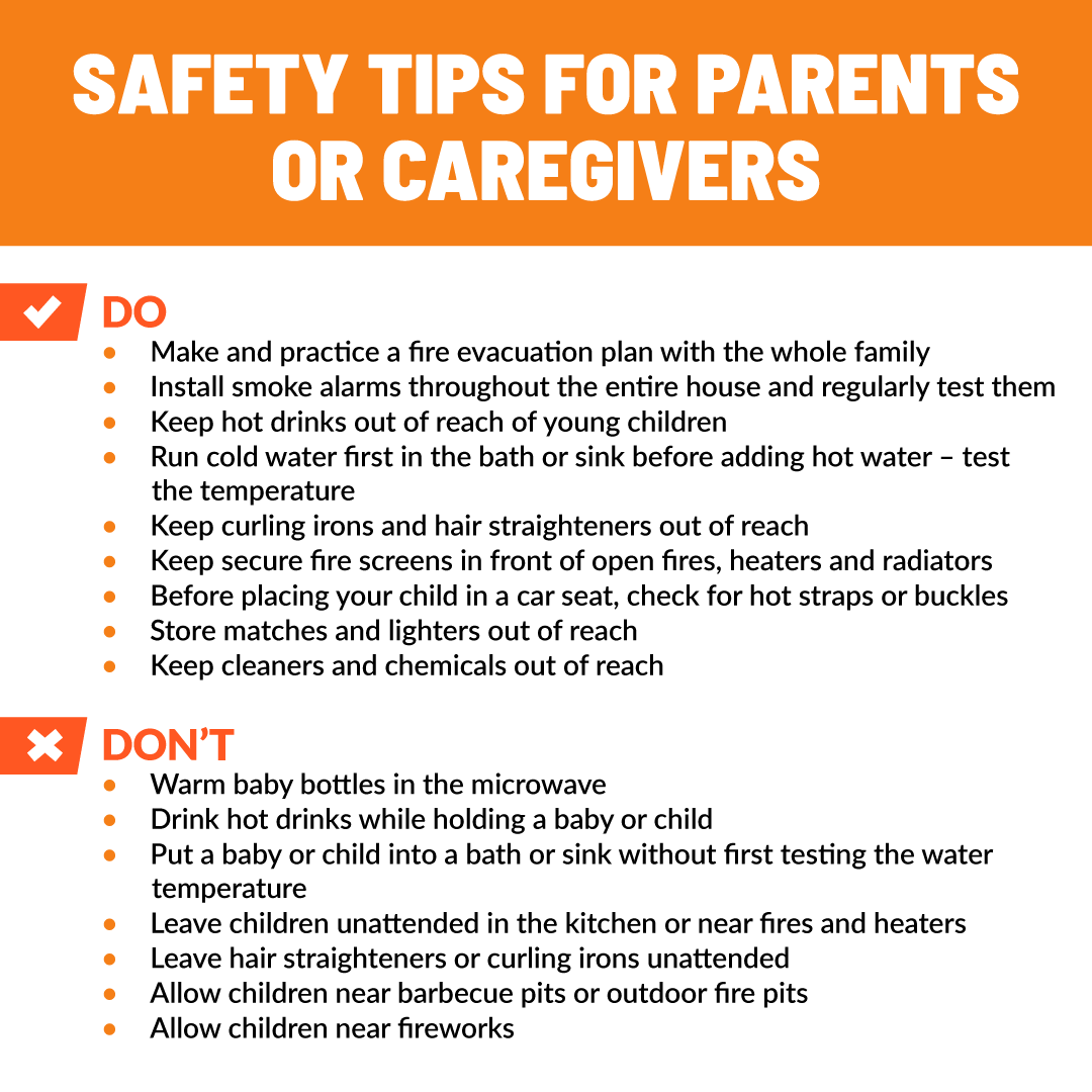 Safety Tips For Parents Regarding Burns The Parker Law Firm
