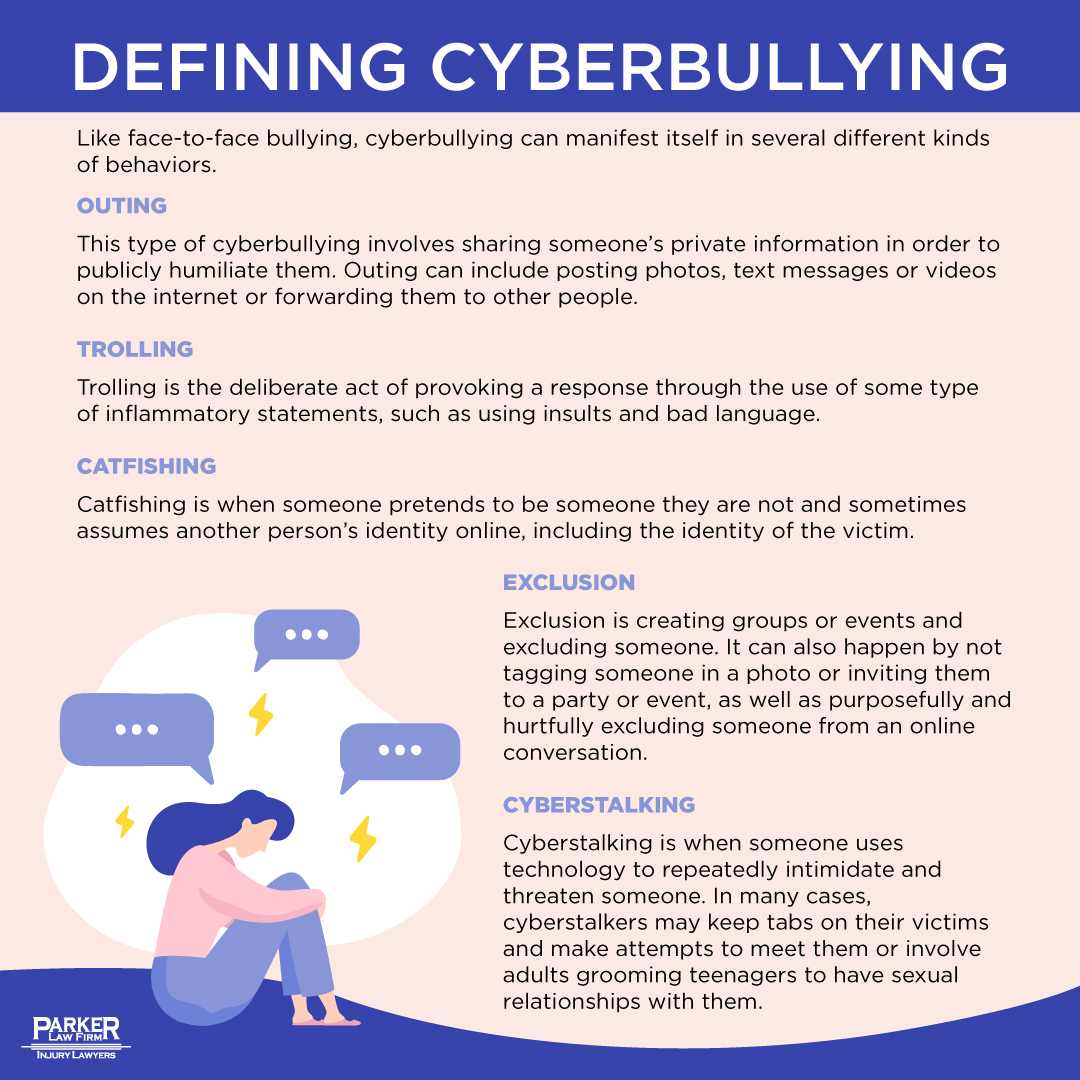 Cyberbullying Infographic The Parker Law Firm