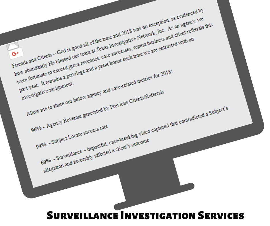 Screenshot of North Texas Surveillance Company