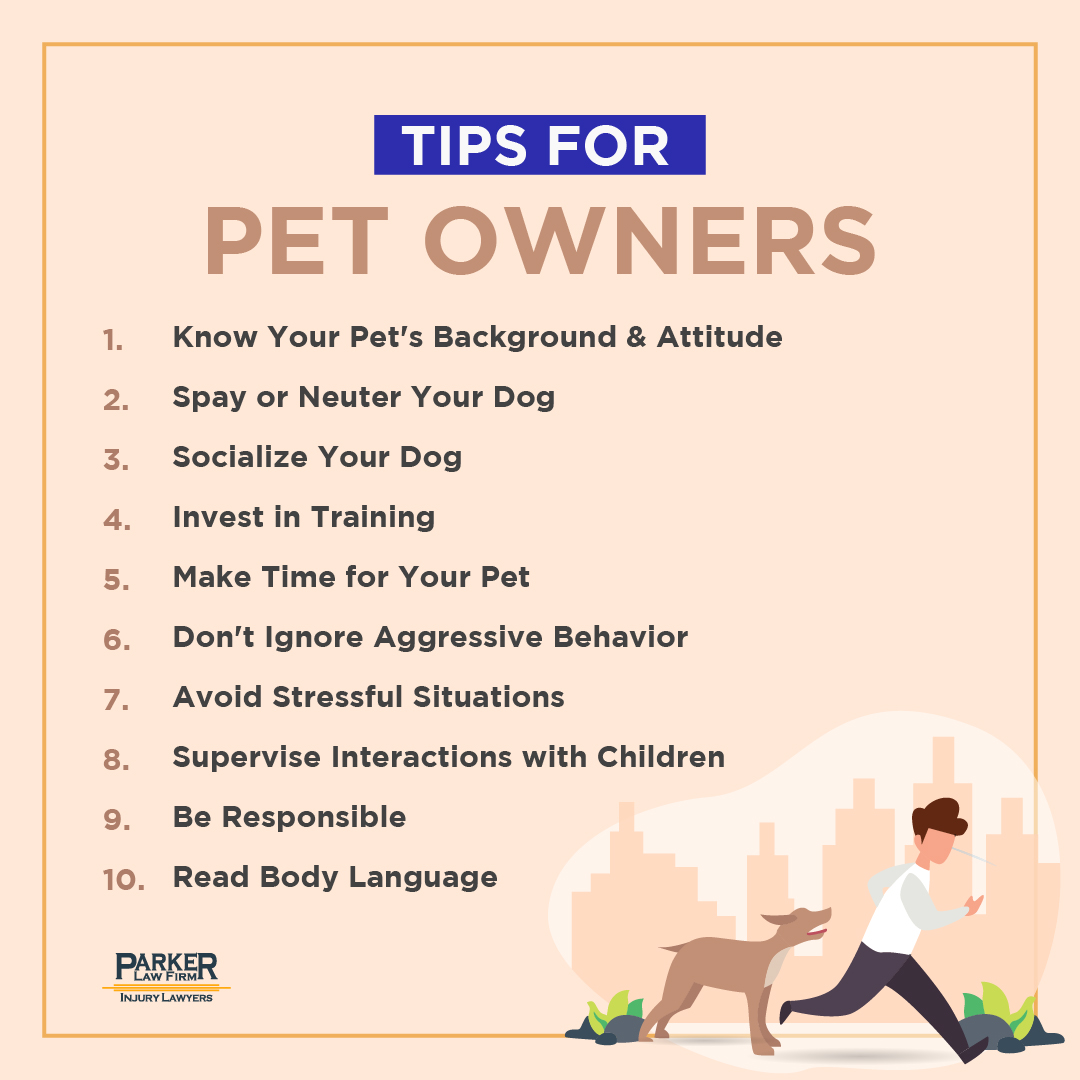 Ten Tips for Dog Owners in North Texas Parker Law Firm