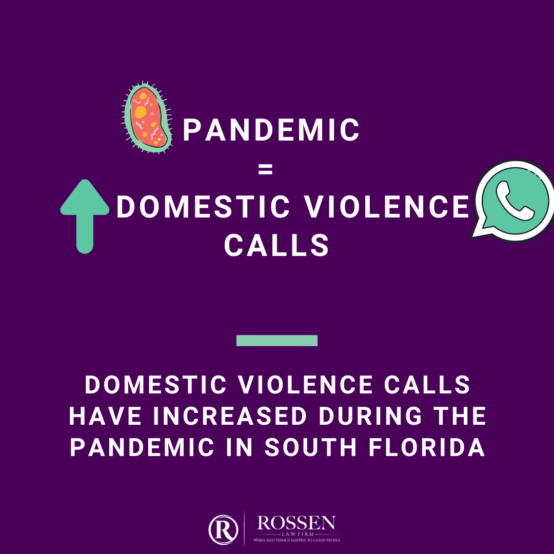South Florida domestic violence calls have increased during the coronavirus and COVID-19 pandemic, Florida police say - this info is on an inforgraphic