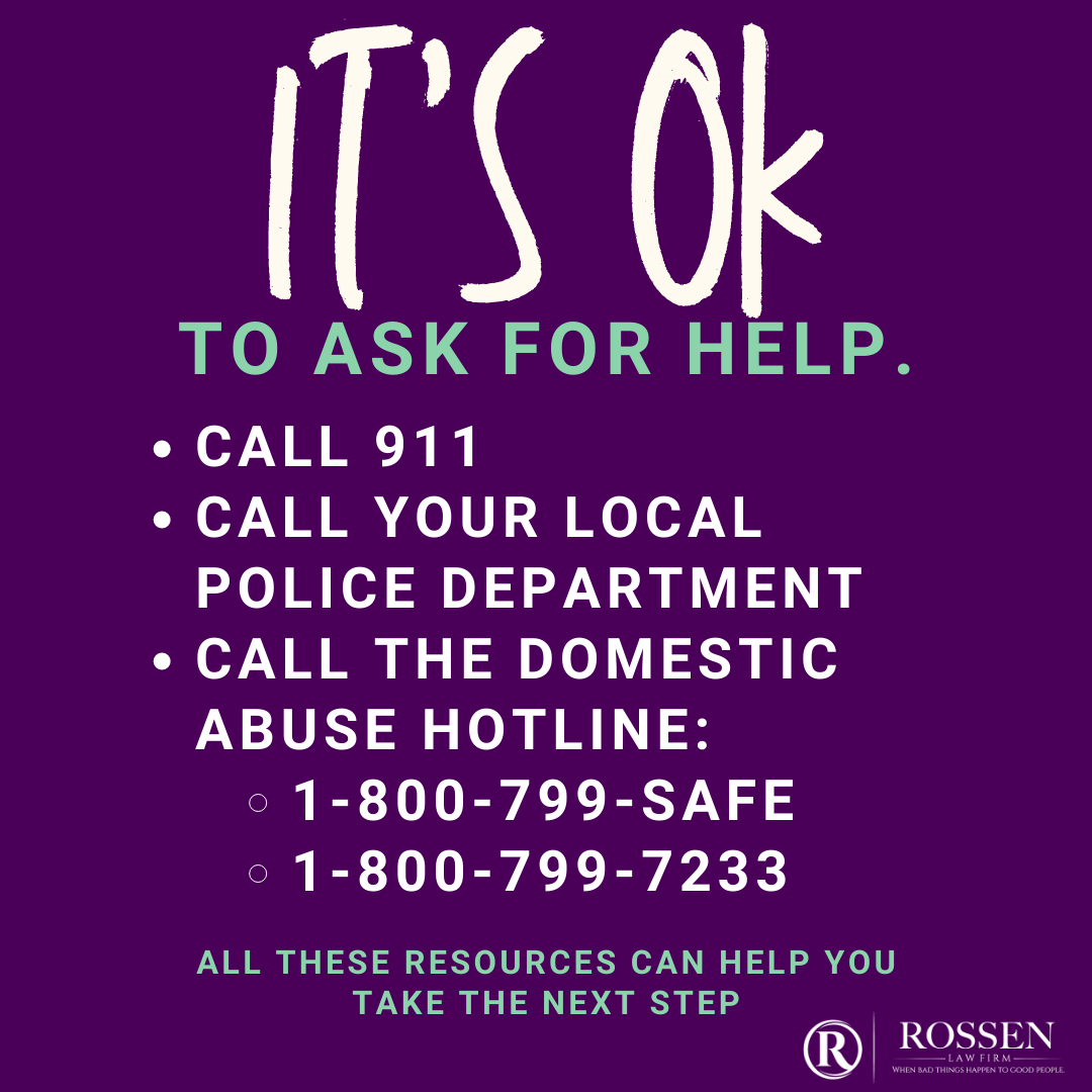 South Florida domestic violence victims and survivors: its OK to ask for help. An infographic explains resources available, such as calling police or the hotline.
