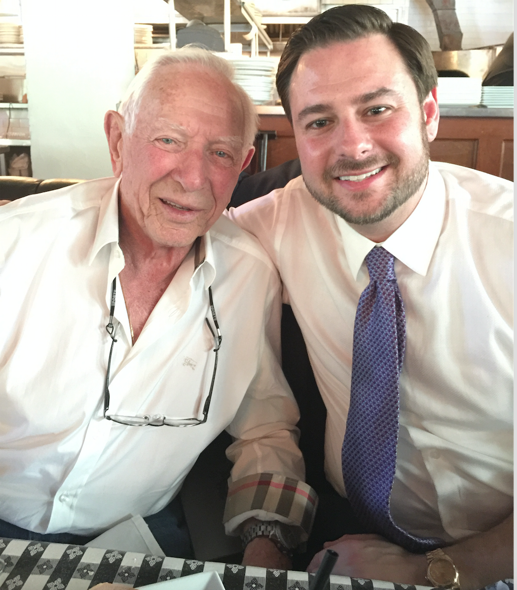 Adam Rossen and his grandfather Harold Rothman are pictured together. The blog is about a scholarship Adam made in his grandfather's name in 2019.