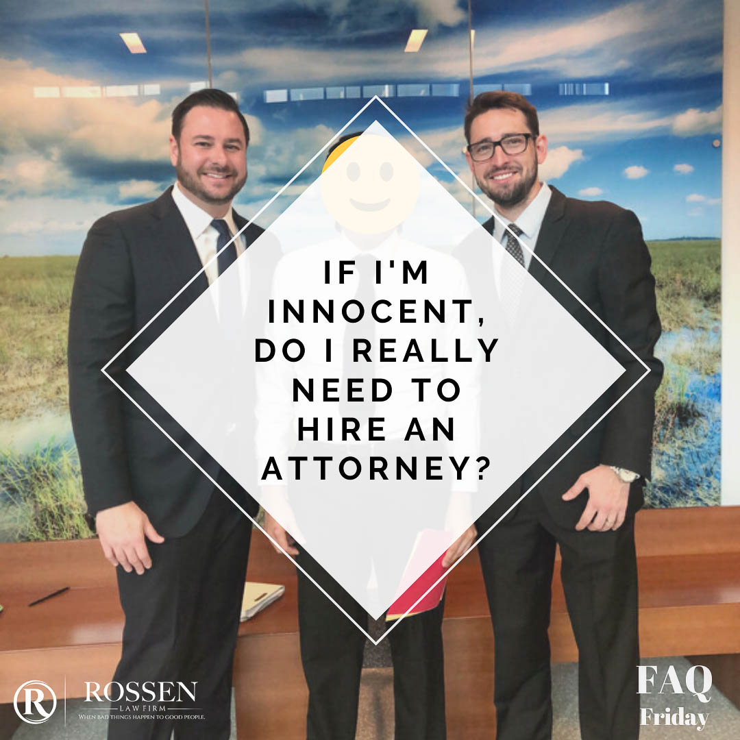 photo shows criminal defense attorneys Adam and Manny with a client sand has text that says: