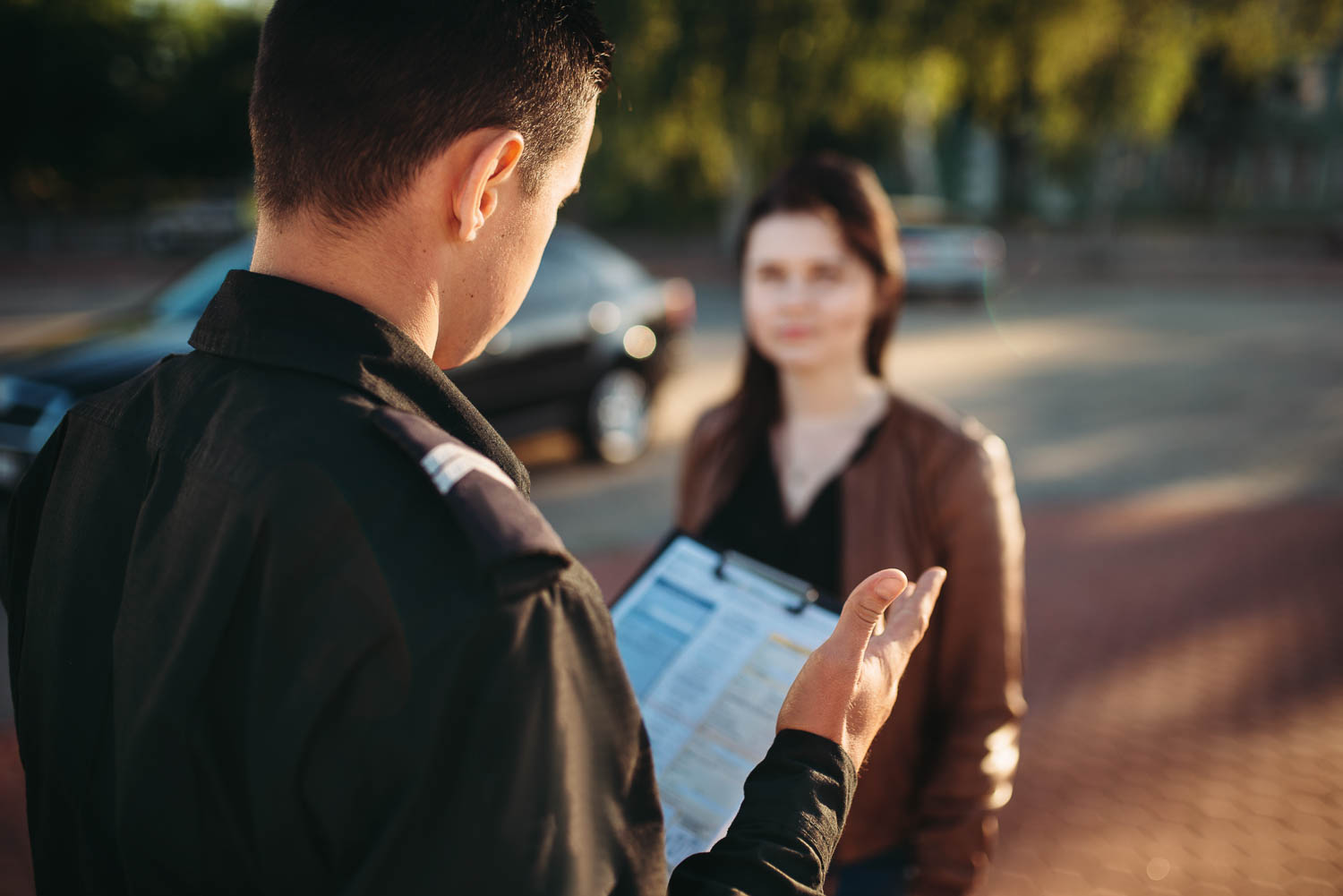 Fort Lauderdale Police explain Field Sobriety Test to woman in a DUI Investigation