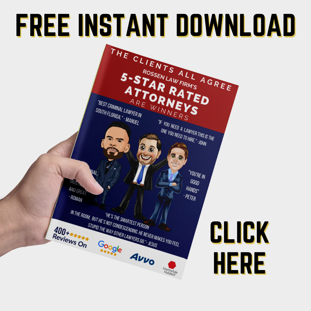 Five Star Fort Lauderdale criminal lawyers have more than 400 client reviews - learn about our client experience with our criminal lawyers in this free booklet