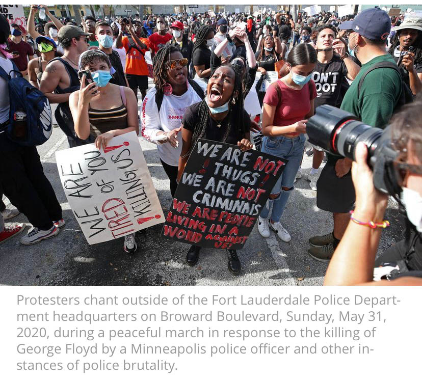 Fort Lauderdale pro bono attorney for peaceful protesters protesting the death of George Floyd