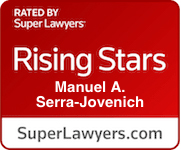 Manny Serra Jovenich is a criminal defense attorney selected as a Super Lawyers Rising Star 2021