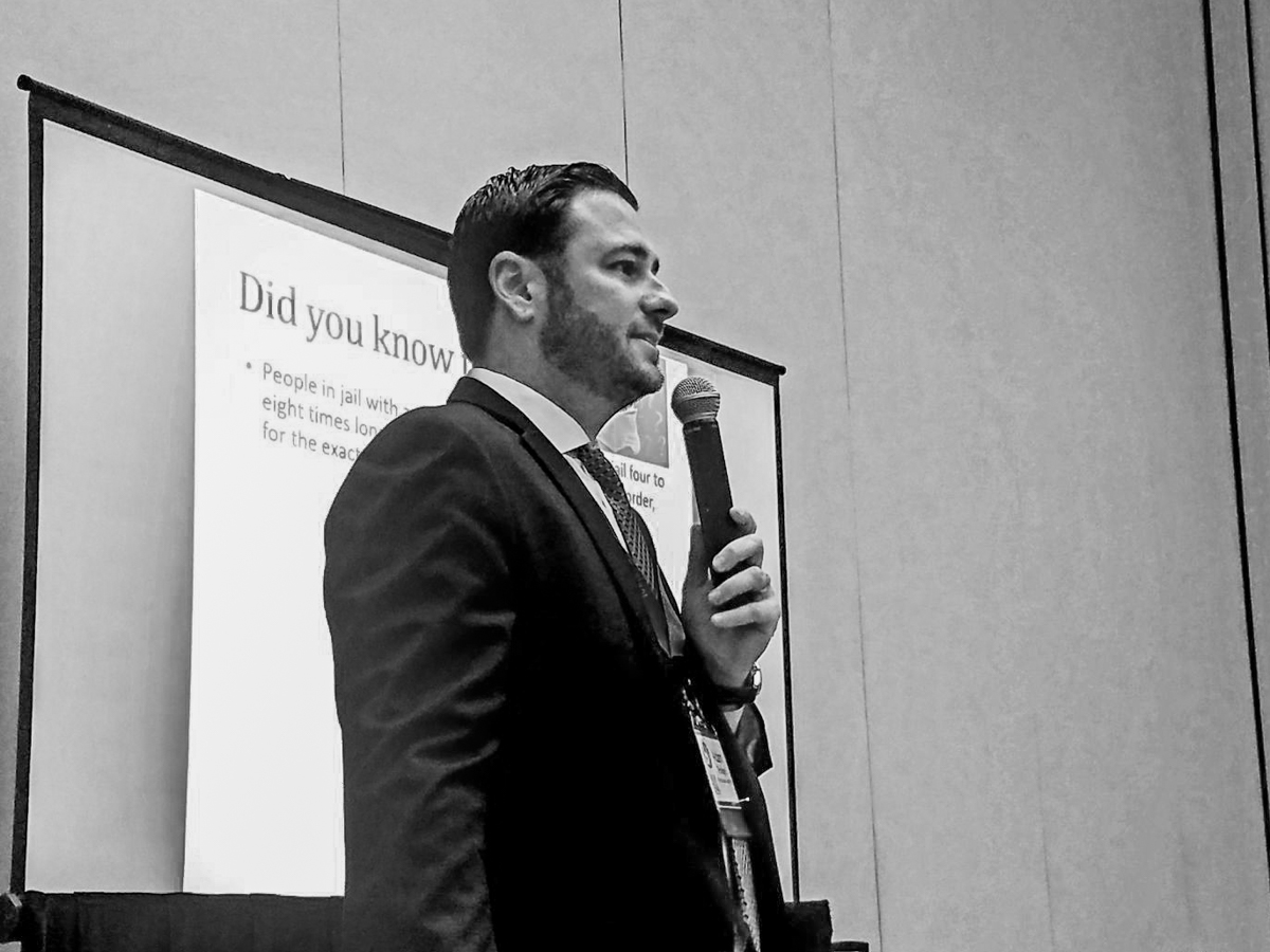 Fort Lauderdale Criminal Defense Attorney Adam Rossen speaks at a Florida State mental health conference about the importance of therapists and criminal lawyers working together for the best outcomes for their clients
