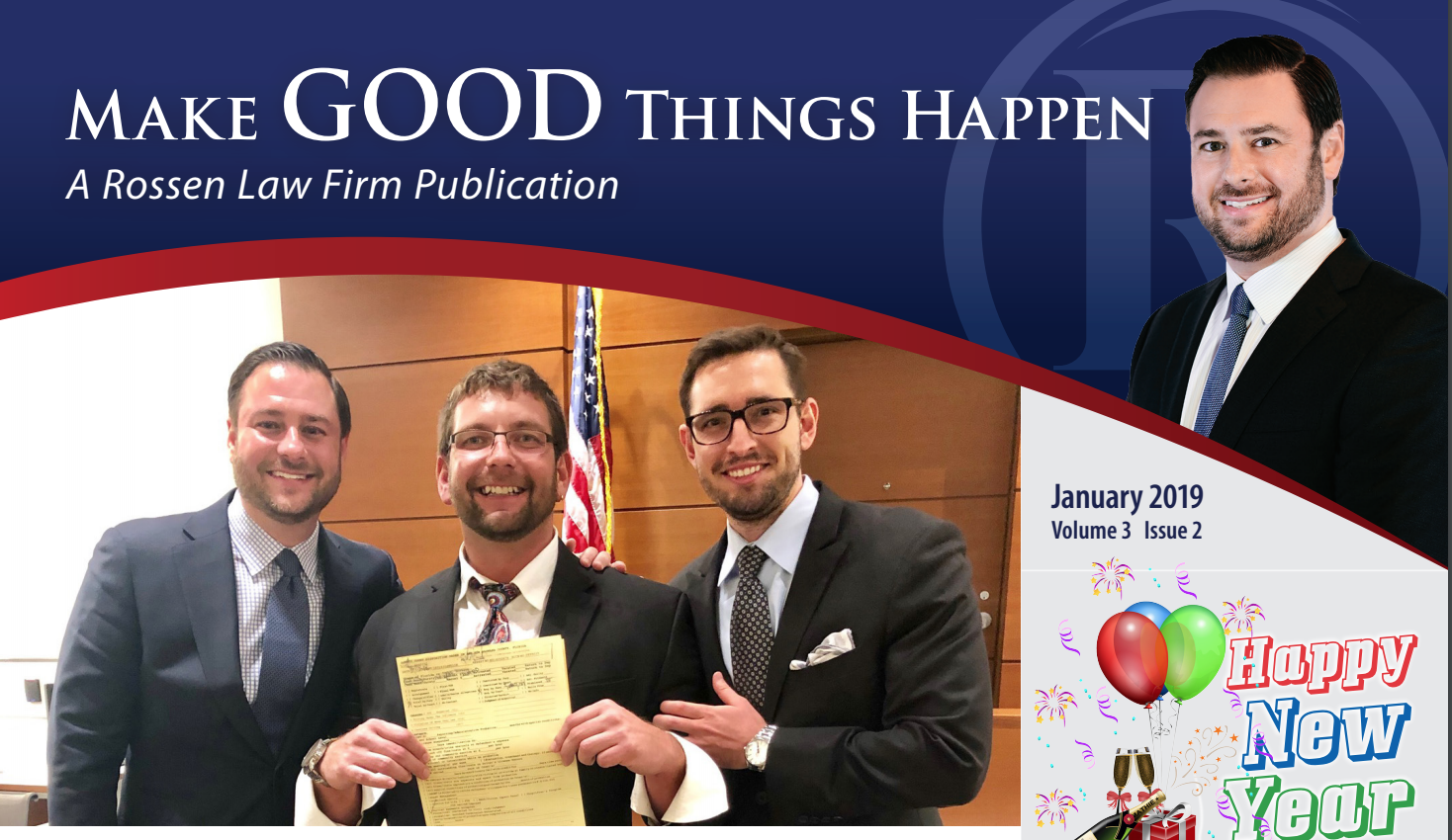 Adam and Manny, Dui Attorneys, pose with a happy client after getting a not guilty verdict at trial for his DUI case in Fort Lauderdale