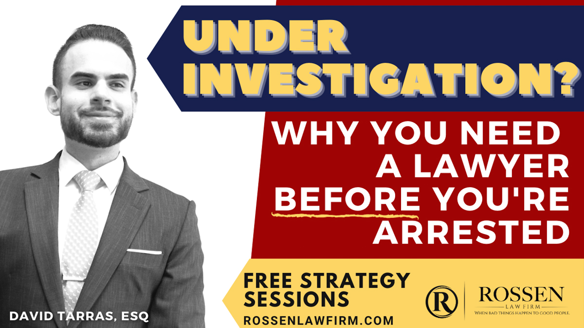 Under investigation in Florida? Fort Lauderdale Criminal Lawyer says not to talk to police and to get an attorney before you're arrested in South Florida