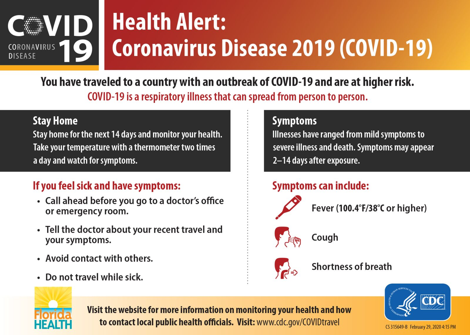 Coronavirus health alert information provided by criminal defense lawyers in florida
