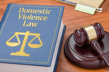 Domestic Violence Law Book With Gavel