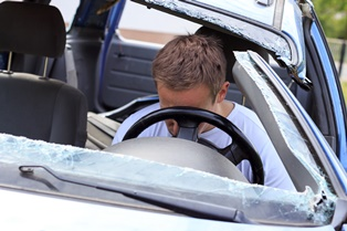 Car accident injuries to the head