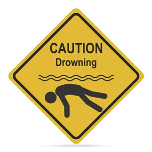 Caution Drowning Sign