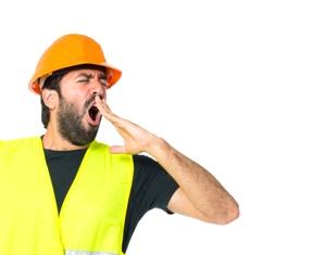 Fatigued Construction Worker on a Job Site Hofmann & Schweitzer