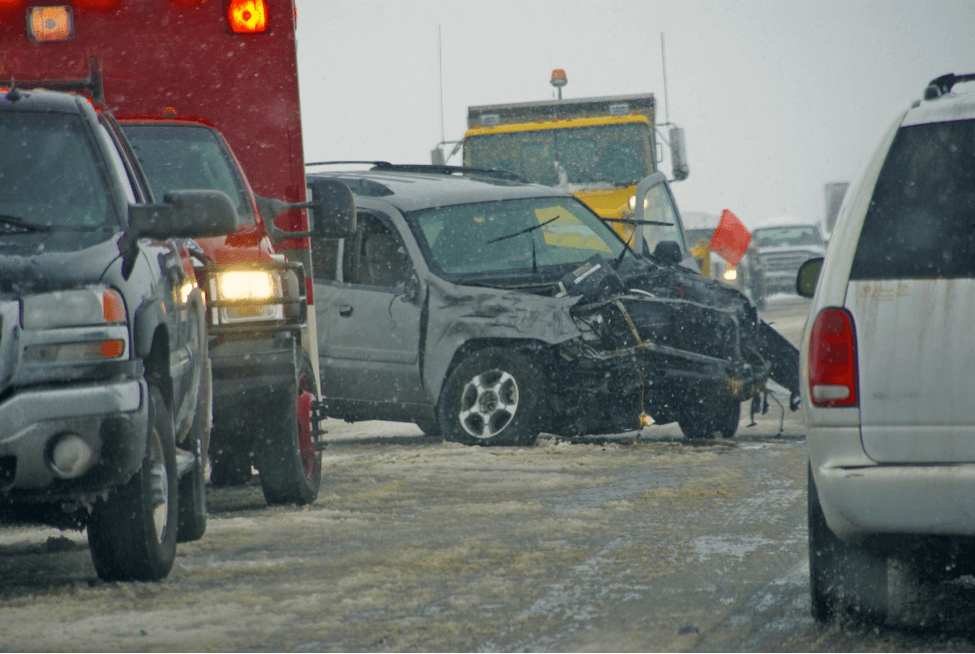 fatal car crash in snow