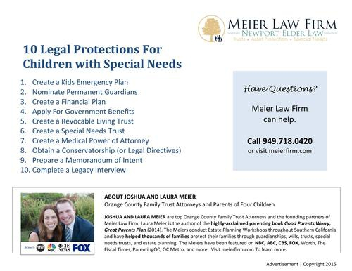 10 Legal Protections for Children with Special Needs- California