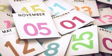 Calendar Dates in a Pile