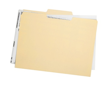 Folder With Social Security Paperwork