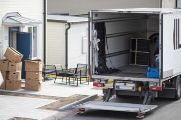 Moving Truck and Moving Boxes