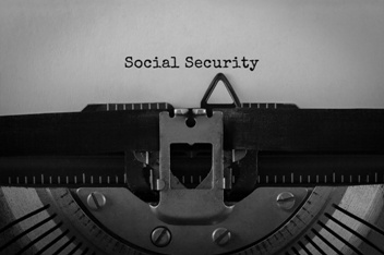 Social Security Disability Paperwork in Typewriter