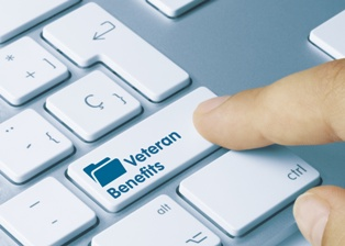 Veterans Benefits Claim Button on a Keyboard
