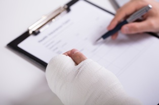 Work Injury With Compensation Paperwork