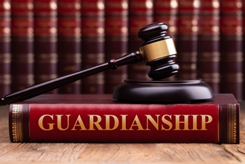 Guardianship Book With a Gavel
