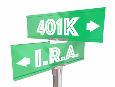 IRA and 401K Road Signs