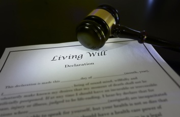 Living Will Paperwork With Gavel