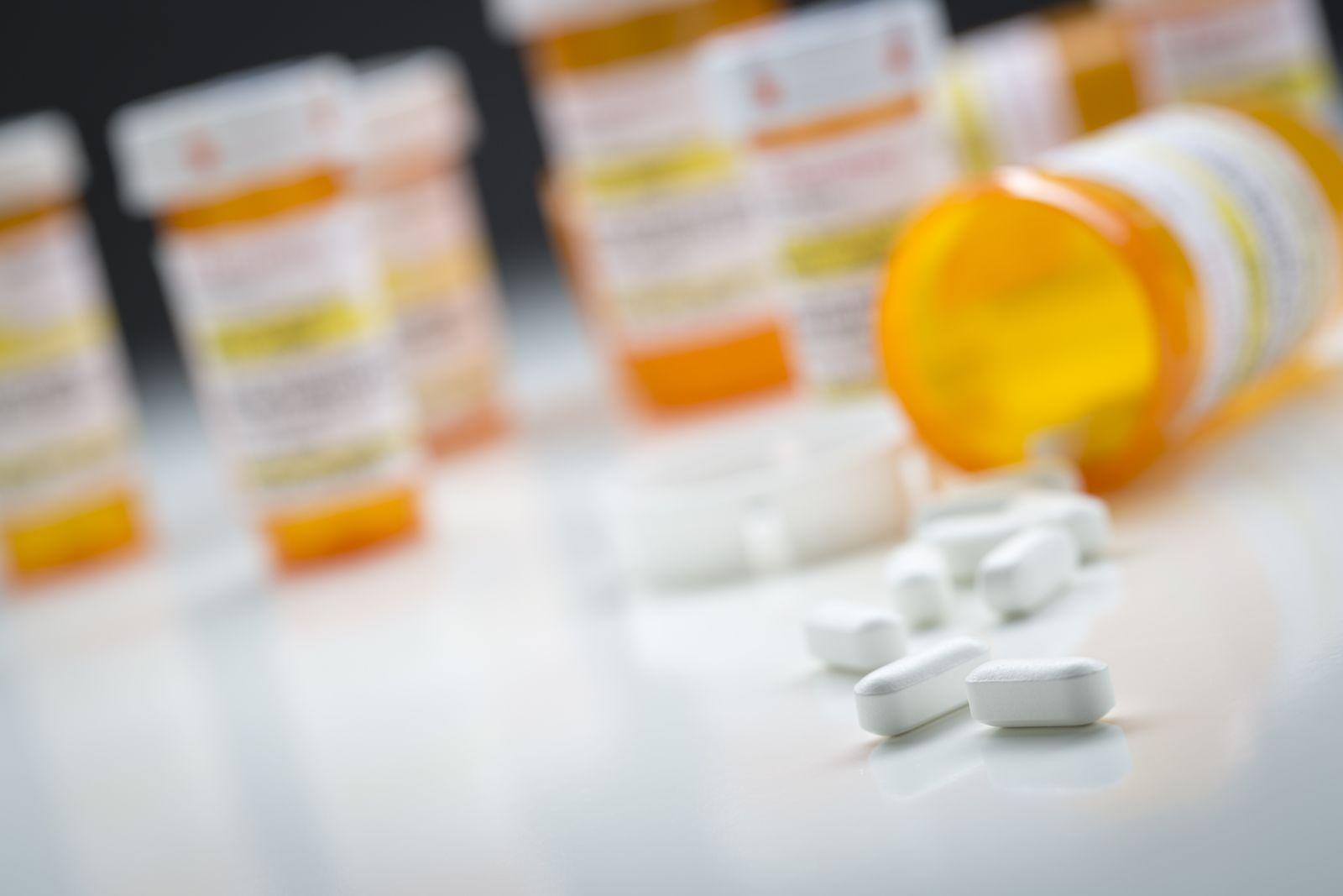 Prescription bottles, abuse of antipsychotic drugs in nursing homes